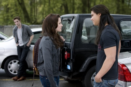 Edward awaits for Bella with Jacob in Stephenie Meyer's New Moon