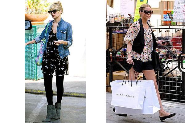 Denim jacket. Hot mama Nicole Richie is always on the forefront of fashion,