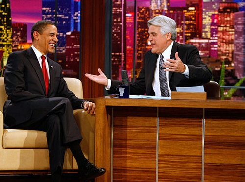 President Obama and Jay Leno on March 19 Tonight Show