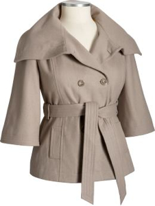 Old Navy short wool-blend coat