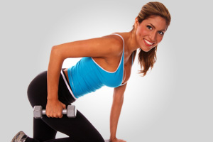 One-arm row and hip extension 