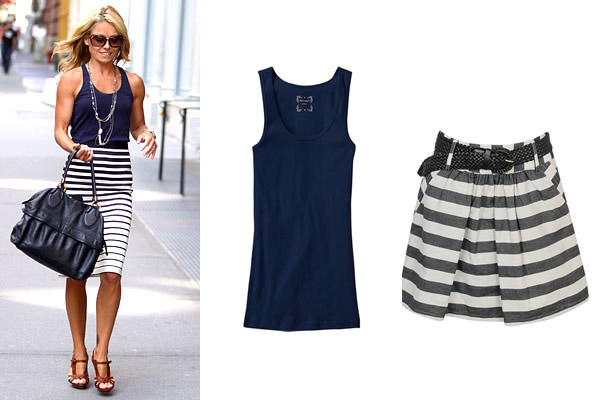 On-the-go stripe chic