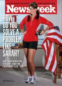 Sarah Palin on the cover of Newsweek