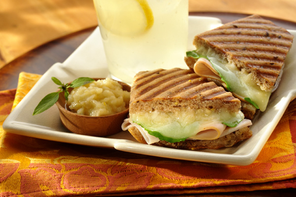 Panini with Turkey Pesto