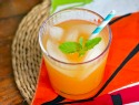 Papaya, pineapple and ginger cooler