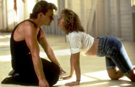 Patrick Swayze in Dirty Dancing with Jennifer Grey