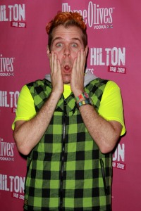Perez Hilton gives a look about a book