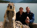 Pet family photobombs