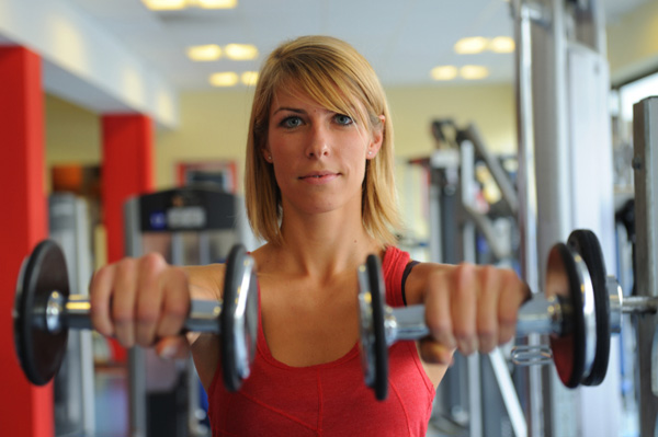 Woman at Gym