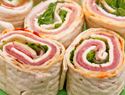 Holiday rolls and pinwheels