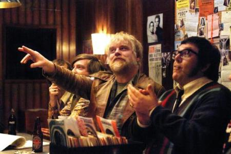 Philip Seymour Hoffman and Nick Frost in Richard Curtis' Pirate Radio
