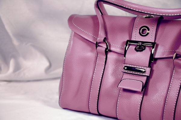 Pleated pink purse