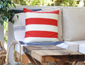 DIY pillow case cover inspired by Pottery Barn