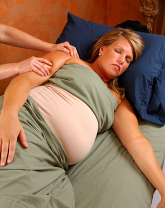 Pregnant Woman at Spa Many spas these days have added pregnancy-related ...