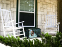 Pretty things that spruce up your porch and that you'll never have to water