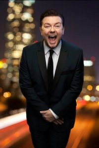 Ricky Gervais does his best