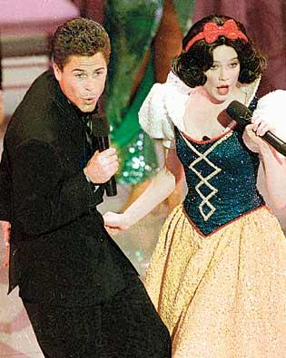 Rob Lowe and Snow White Oscars 1989