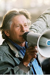 Roman Polanski directing on set