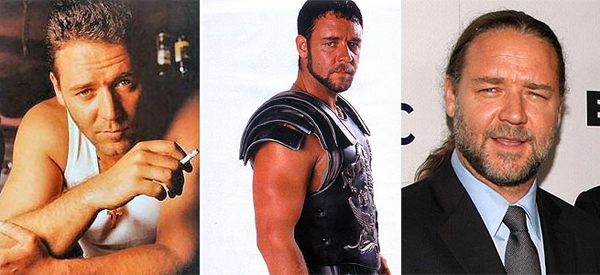 From Gladiator to glutton...Russell Crowe