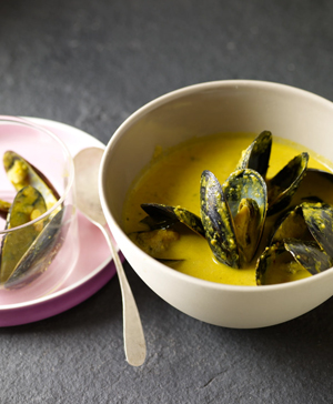 Saffron Mussel Stew