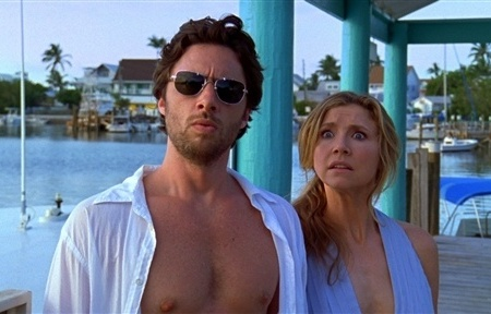 Zach Braff and Sarah Chalke in Scrubs