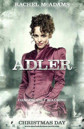 Rachel McAdams is Adler, a perfect foil for Holmes