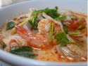 Spicy shrimp soup two ways