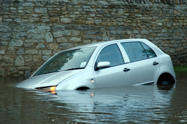 Sinking Car