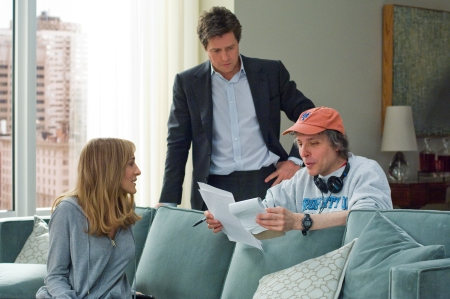 Sarah Jessica Parker and Hugh Grant with writer-director Marc Lawrence