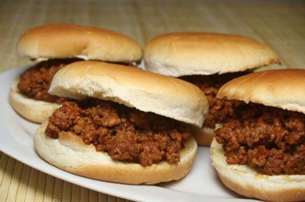 plate of sloppy joe sandwiches