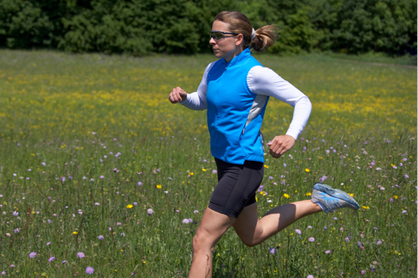 Woman Running in Spring