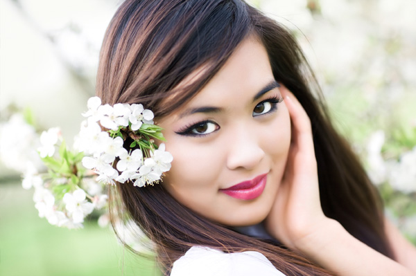 Spring Beauty Wearing Makeup