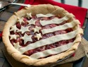 Stars and stripes summer pie