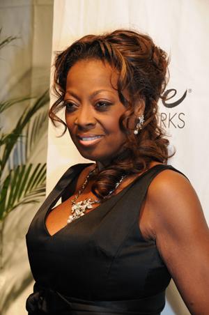 Star Jones walks the red carpet for charity