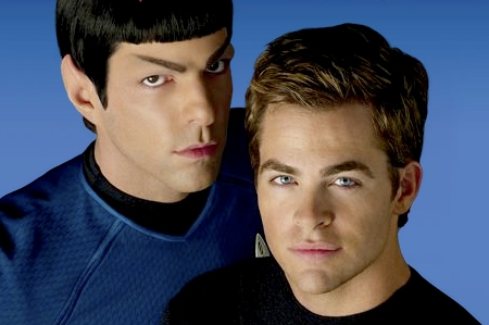 Zachery Quinto and Chris Pine in Star Trek