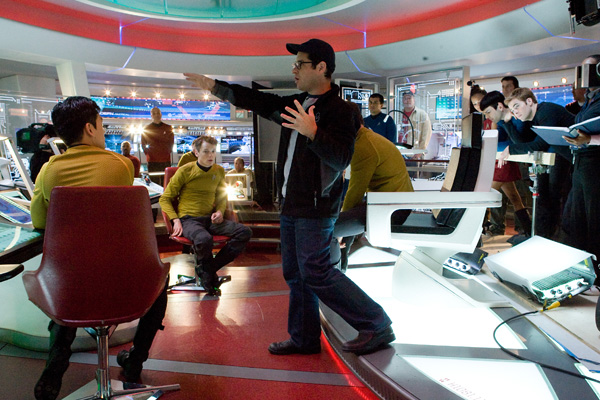 JJ directs his cast and crew in Star Trek