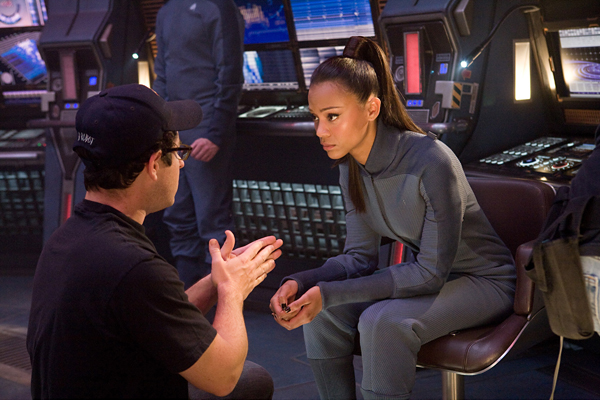 JJ Abrams works his directorial magic with Zoe Saldana
