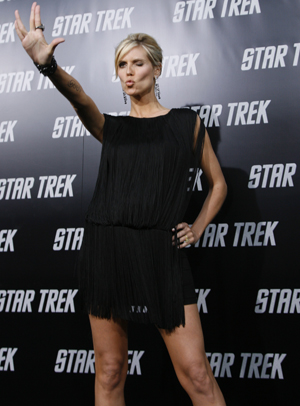 Heidi Klum wishes you live long and prosper