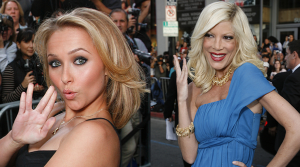Hayden Panettierre and Tori Spelling are ready for Star Treak action