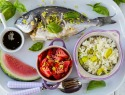 Ginger pepper fish with coconut-leek rice is a super flavorful, healthy meal