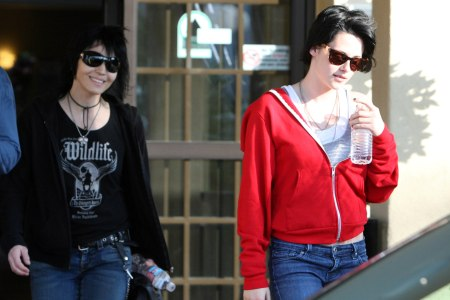 Life and art: Joan Jett and Kristen Stewart leaving a vocal lesson for The Runaways