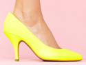 Stylish yellow shoes for spring days