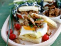 Chicken adobo sandwich
