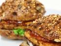 Super-healthy tofu burger