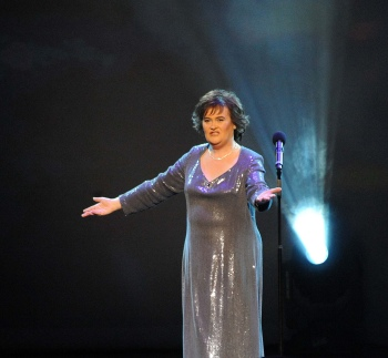 Susan Boyle performs in Birmingham