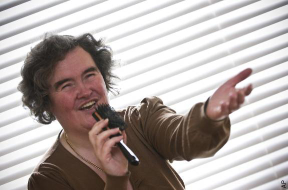 Susan Boyle singing a new tune, hair-wise