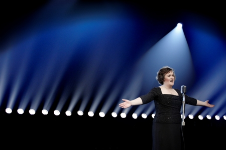 Susan Boyle visits the Today Show stage