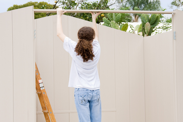 Teen Volunteer Doing Construction