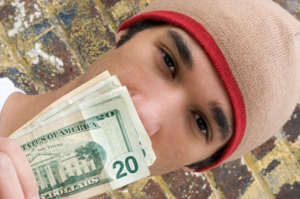 Teen with $20 Dollar Bill