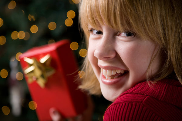 Teen with Gift